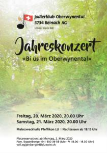 Jodler-Heimatobe 2020 @ MZH Pfeffikon